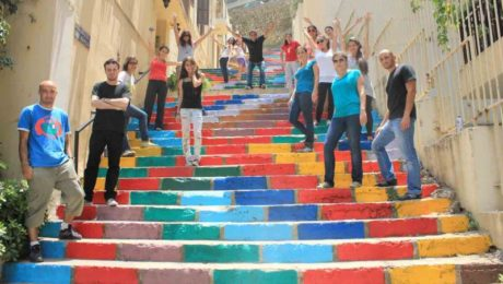 Street art revitalising Beirut with colours and shapes
